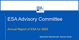 Presentation of ESA Annual Report 2020